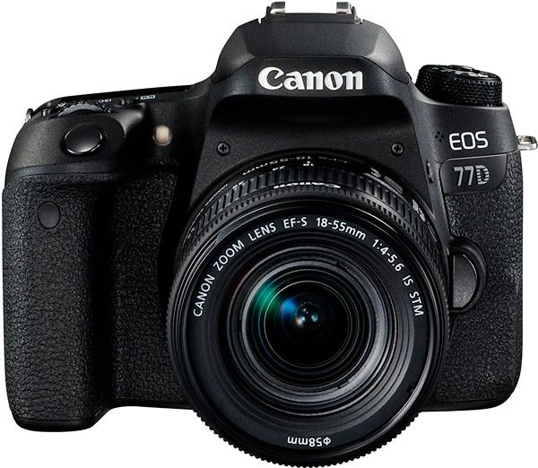 mejor cámara réflex canon 77d
